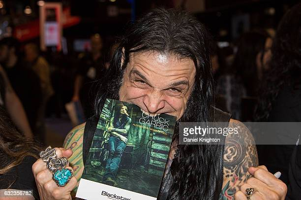 Bassist Chuck Garric of Alice Cooper attends a signing at The 2017 NAMM Show on January 21 2017 in Anaheim California