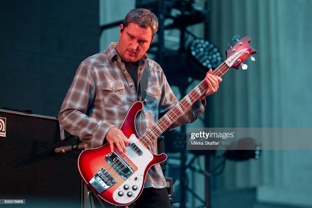 Bassist Dan Maines of Clutch performs at The Greek Theater on August 18, 2017 in Berkeley, California.
