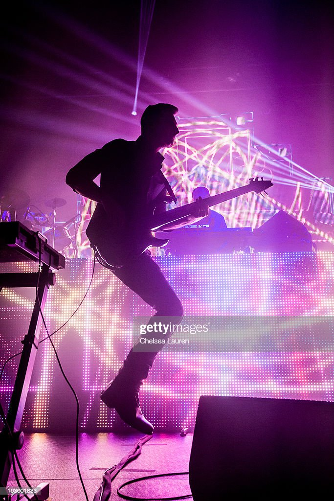 Bassist David Murphy of Sound Tribe Sector 9 performs at Hollywood Palladium on March 2, 2013 in Hollywood, California.