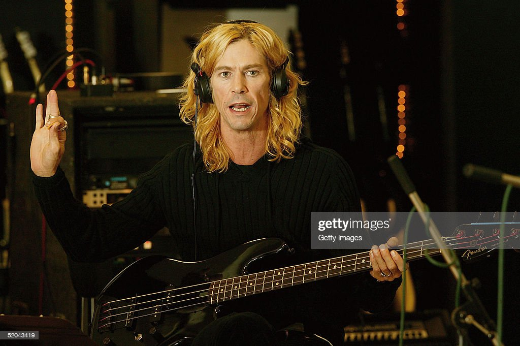 Bassist Duff McKagan of Velvet Revolver records the charity cover of Eric Clapton's 'Tears In Heaven' Tsunami Relief Single at Whitfield Studios on January 20, 2005 in London. Other stars to contribute to the single will include Robbie Williams, Rod Stewart, Pink, Ozzy and Kelly Osbourne, Andrea Bocelli, Gwen Stefani, Gavin Rossdale, Robert Downey Jr., Phil Collins, Josh Groban and Aerosmith's Steve Tyler. The single is an initiative of Sharon Osbourne, and proceeds will go to benefit aid organization Save the Children's operations in tsunami-affected regions.