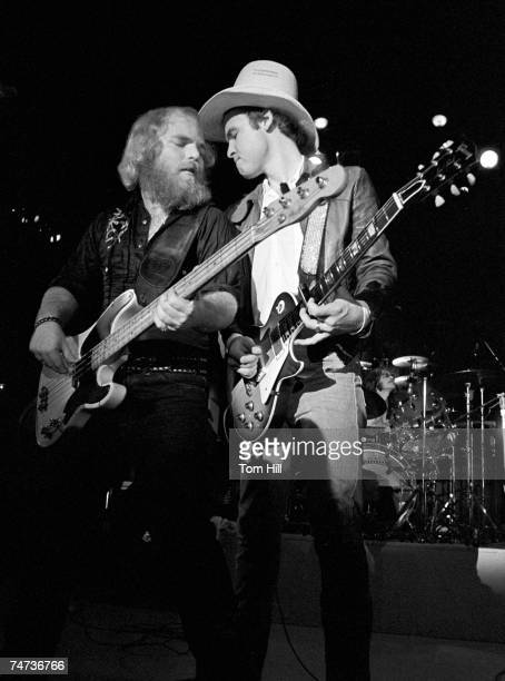 Dusty Hill Billy Gibbons and Frank 'Rube' Beard of ZZ TOP at the Chattanooga Municipal Auditorium in Chattanooga Tennessee
