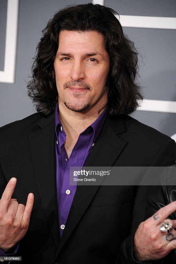Bassist Frank Bello of Anthrax attends the 55th Annual GRAMMY Awards at STAPLES Center on February 10, 2013 in Los Angeles, California.