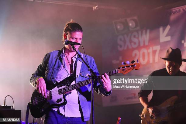 Bassist Grant Hemler performs during the Spoon SXSW Residency 2017 SXSW Conference and Festivals on March 16 2017 in Austin Texas