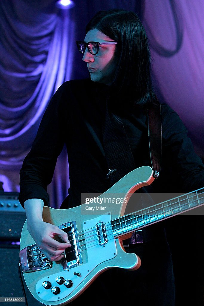 Bassist Jack Lawrence of The Raconteurs performs during a sold-out show at Stubb's Bar-B-Q on May 3, 2008 in Austin, Texas.