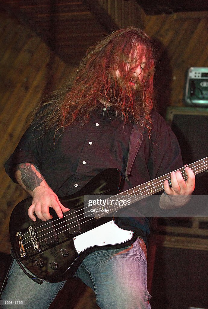 Bassist Jason McCash of The Gates Of Slumber performs at Indy's Jukebox on January 11, 2013 in Indianapolis, Indiana.