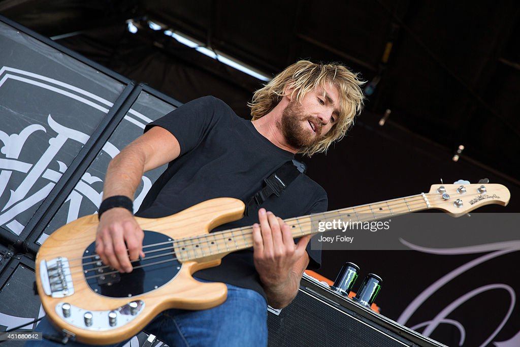 Bassist Jia 'Pie' O'Connor of Parkway Drive performs during the Van's Warped Tour 2014 at Klipsch Music Center on July 3 2014 in Noblesville Indiana