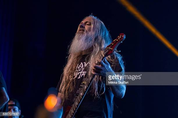 Bassist John Campbell of Lamb Of God performs at Fox Theater on May 29 2016 in Oakland California