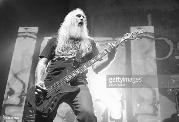 Bassist John Campbell of Lamb of God performs at The Joint inside the Hard Rock Hotel Casino on August 4 2017 in Las Vegas Nevada