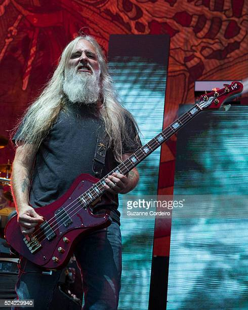 Bassist John Campbell performs with Lamb of God in concert at the Austin360 Amphitheater on September 2015 in Austin Texas