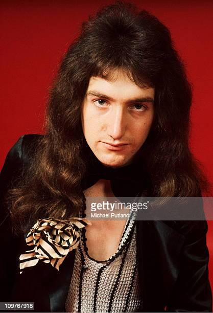 Bassist John Deacon of British rock band Queen poses in London England in 1973