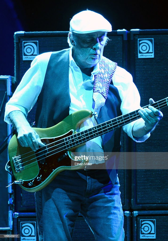 Bassist <a gi-track='captionPersonalityLinkClicked' href=/galleries/search?phrase=John+McVie&family=editorial&specificpeople=235801 ng-click='$event.stopPropagation()'>John McVie</a> of Fleetwood Mac performs at the MGM Grand Garden Arena on May 26, 2013 in Las Vegas, Nevada.