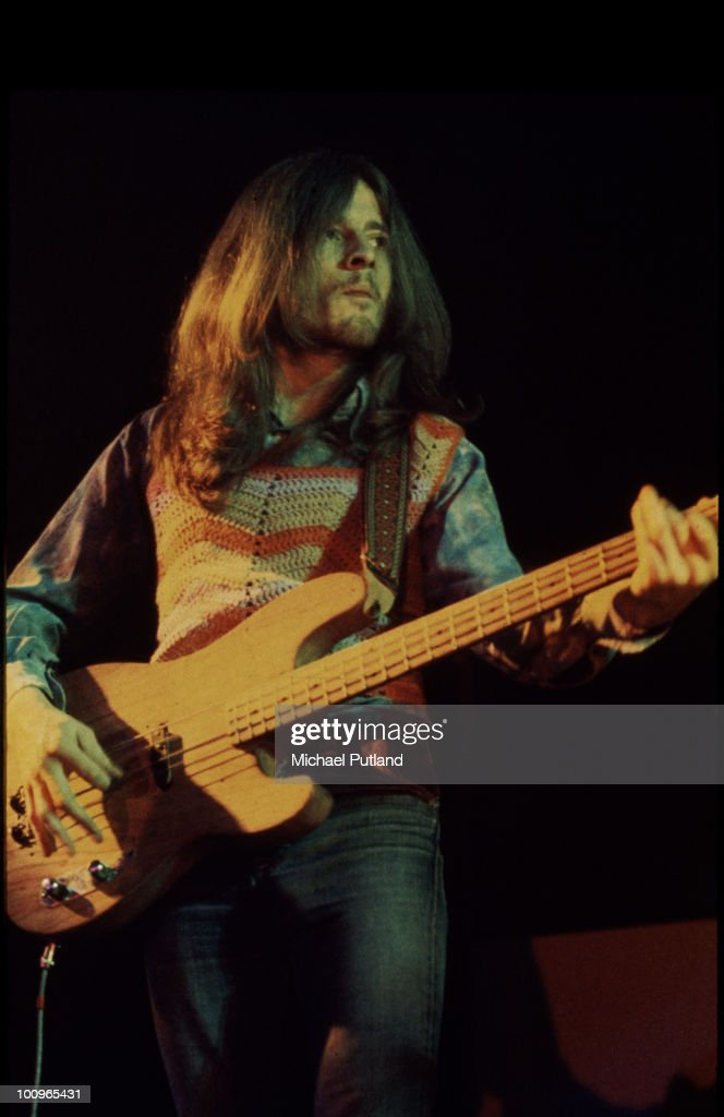 Bassist John Paul Jones performing with English rock group Led Zeppelin UK circa 1972