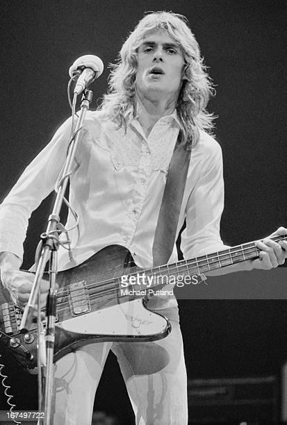 Bassist Martin Turner performing with British rock group Wishbone Ash at the Rainbow Theatre London 11th January 1973