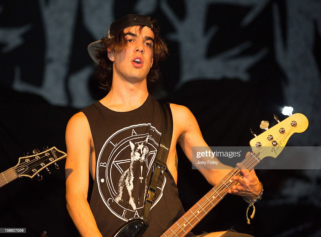 Bassist Matt Leone of Upon This Dawning performs at The Irving Theater on December 18, 2012 in Indianapolis, Indiana.