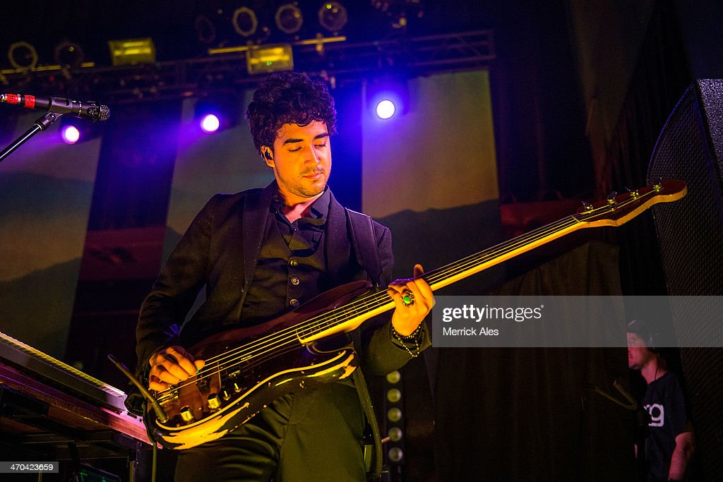 Bassist Miguel Briseno of Lord Huron performs at Emo's on February 18, 2014 in Austin, Texas.