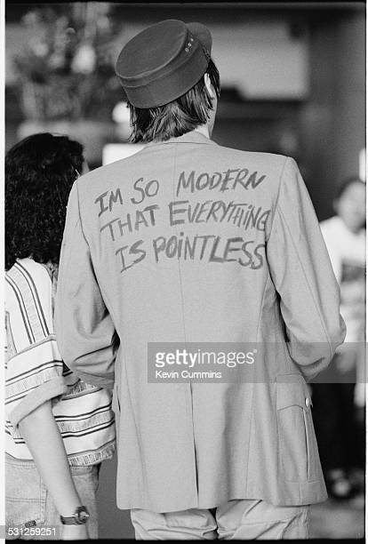 Bassist Nicky Wire of Welsh alternative rock group the Manic Street Preachers Bangkok Thailand 27th April 1994 The back of his jacket bears the...