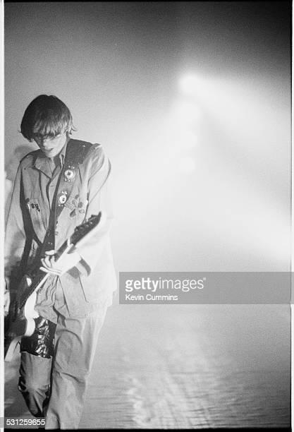 Bassist Nicky Wire performing with Welsh alternative rock group the Manic Street Preachers at one of their two concerts at MBK Hall Bangkok Thailand...