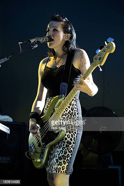 Bassist Nicole Fiorentino of The Smashing Pumpkins performs in concert at Stubb's BarBQ on September 27 2012 in Austin Texas