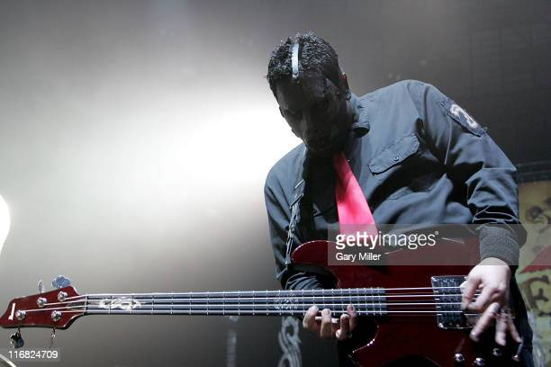 Bassist Paul Gray of Slipknot performs in concert at the Freeman Coliseum March 1 2009 in San Antonio Texas