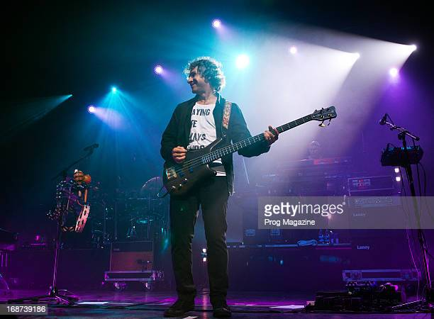 Bassist Pete Trewavas of English progressive rock group Marillion performing live on stage at The Forum in London during the Sounds That Can't Be...