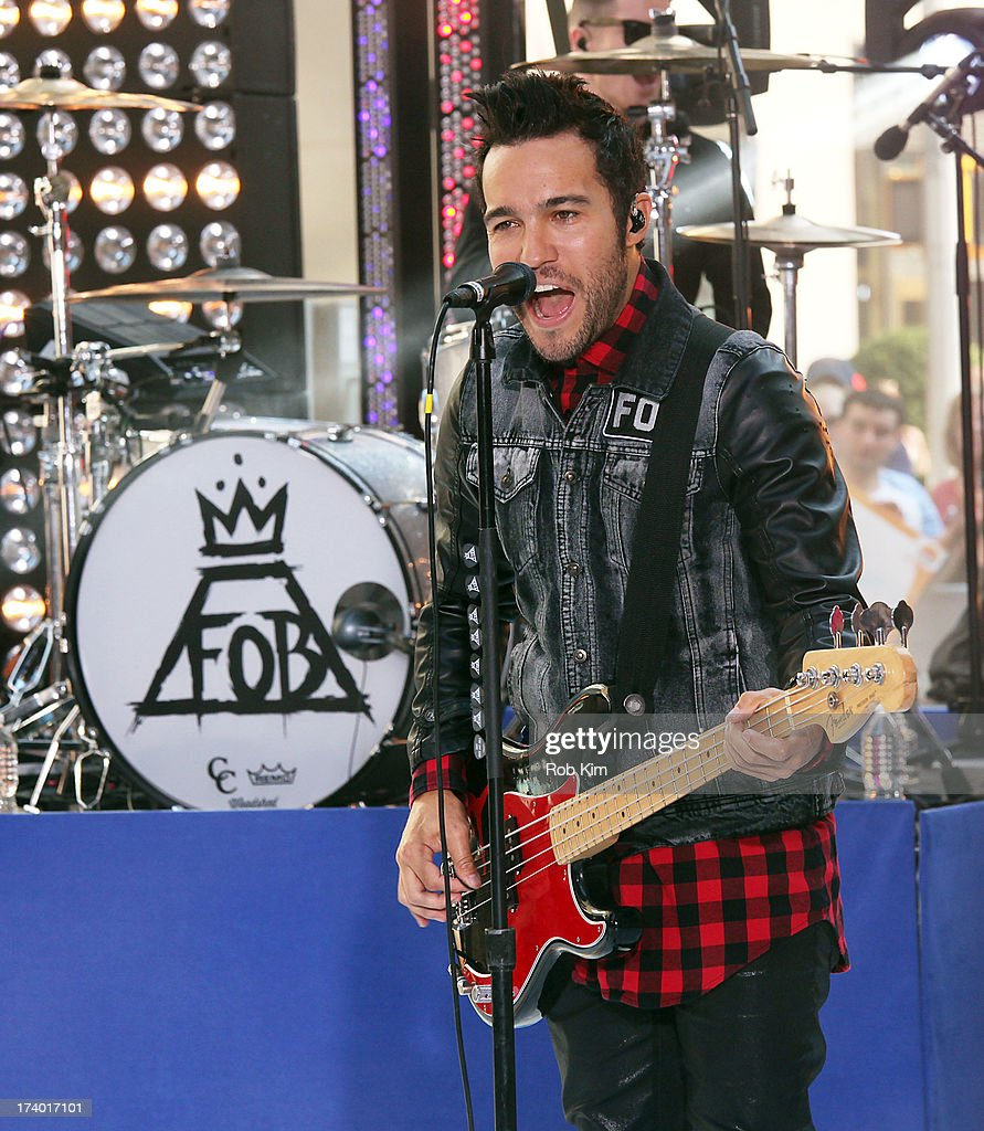 Bassist <a gi-track='captionPersonalityLinkClicked' href=/galleries/search?phrase=Pete+Wentz&family=editorial&specificpeople=595892 ng-click='$event.stopPropagation()'>Pete Wentz</a> of Fall Out Boy performs on NBC's 'Today' at the NBC's TODAY Show on July 19, 2013 in New York, New York.