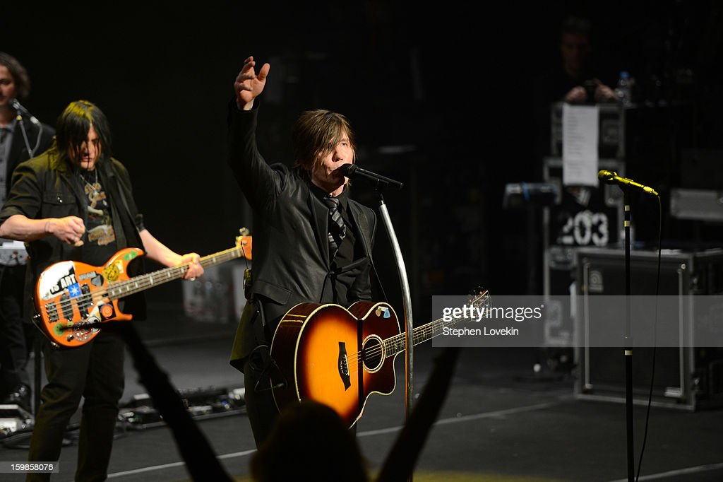 Bassist Robby Takac (L) and singer/guitarist Johnny Rzeznik of the Goo Goo Dolls perform onstage at The Creative Coalition's 2013 Inaugural Ball at the Harman Center for the Arts on January 21, 2013 in Washington, United States.