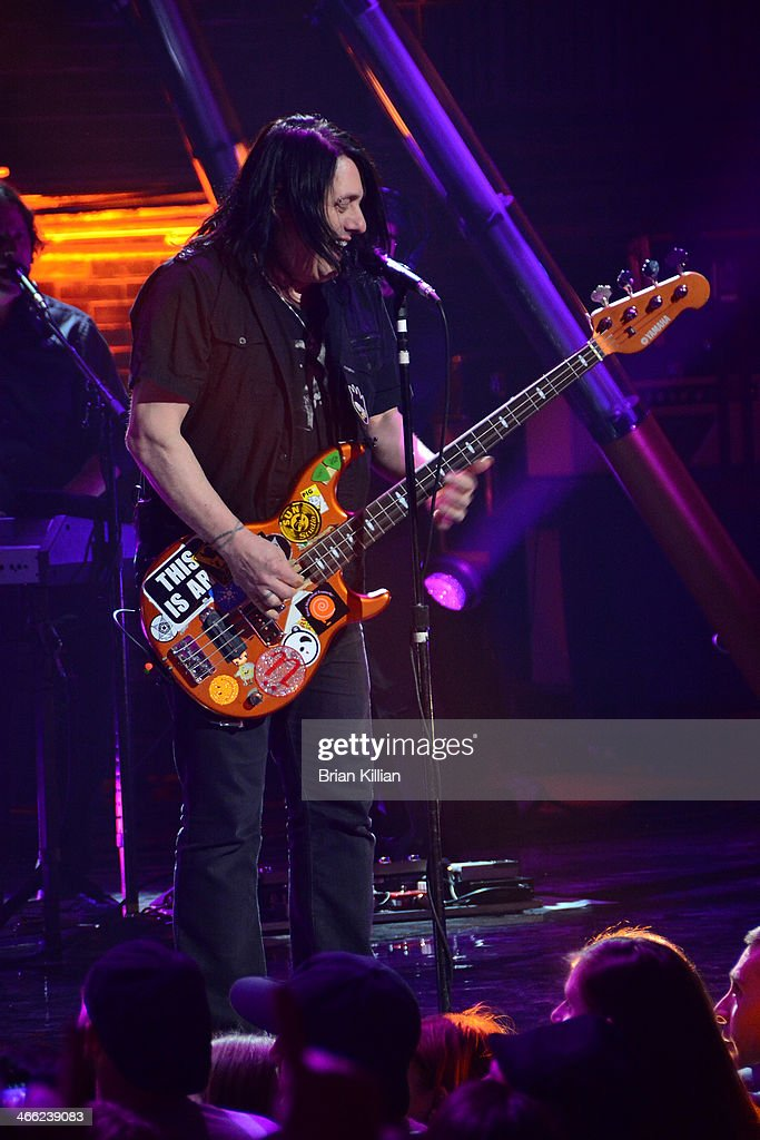 Bassist Robby Takac of the band The Goo Goo Dolls performs during VH1's 'Super Bowl Blitz: Six Nights + Six Concerts' at St. George Theatre on January 31, 2014 in the Staten Island borough of New York City.