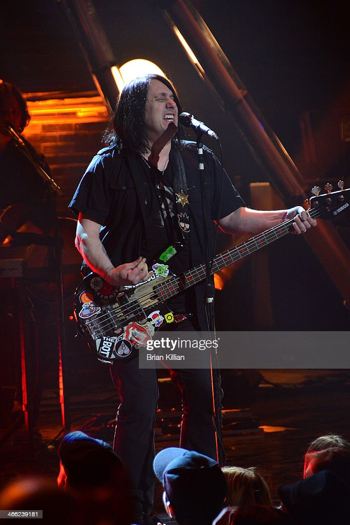 Bassist <a gi-track='captionPersonalityLinkClicked' href=/galleries/search?phrase=Robby+Takac&family=editorial&specificpeople=778886 ng-click='$event.stopPropagation()'>Robby Takac</a> of the band The Goo Goo Dolls performs during VH1's 'Super Bowl Blitz: Six Nights + Six Concerts' at St. George Theatre on January 31, 2014 in the Staten Island borough of New York City.