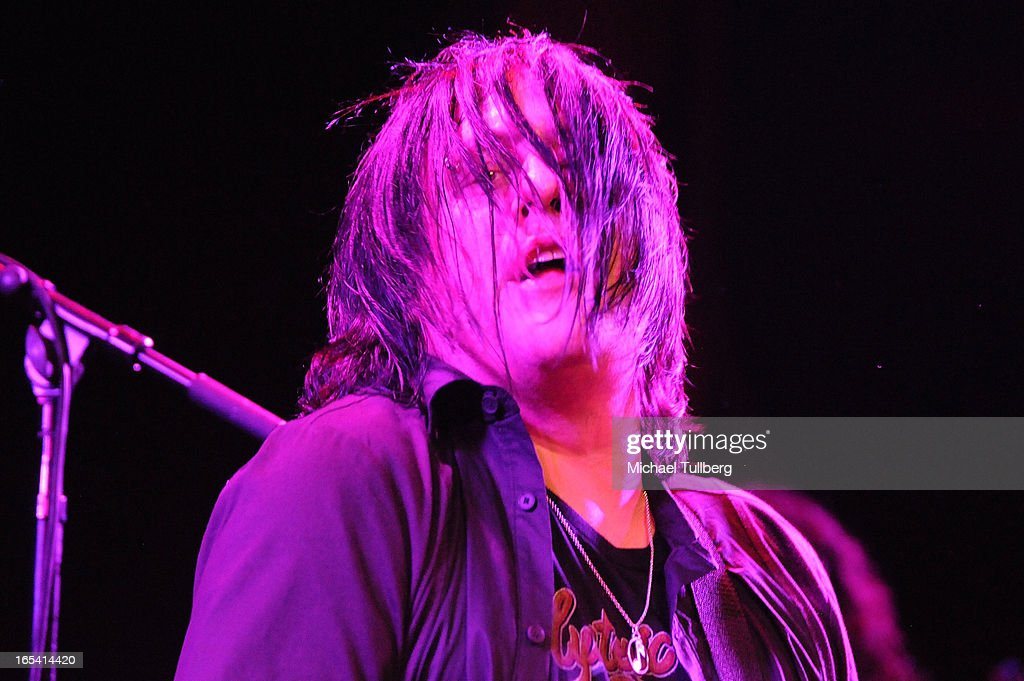 Bassist Robby Takac of the Goo Goo Dolls performs live at Troubadour on April 3, 2013 in West Hollywood, California.