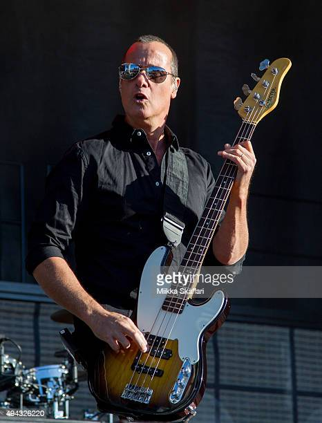 Bassist Robert DeLeo of Stone Temple Pilots performs at 2015 Monster Energy Aftershock Festival at Gibson Ranch County Park on October 25 2015 in...