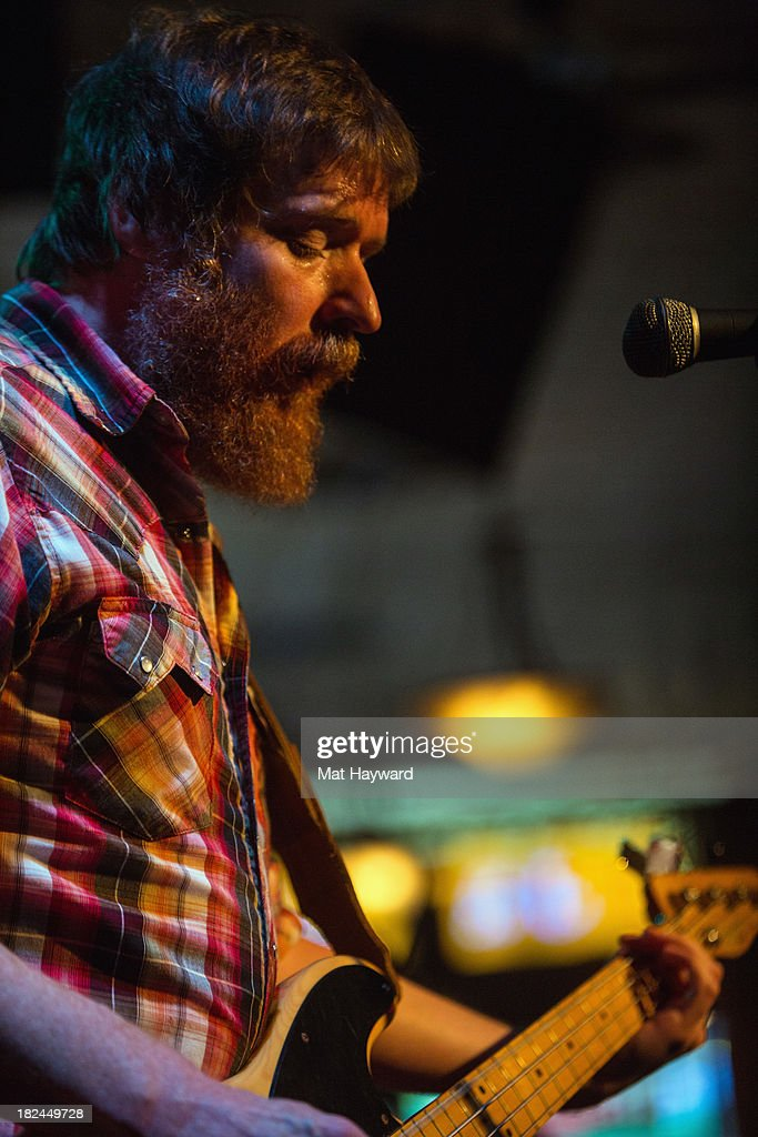 Bassist Roger Dabbs of the Features performs during an EndSession hosted by 107.7 The End at the J&M Cafe on September 29, 2013 in Seattle, Washington.