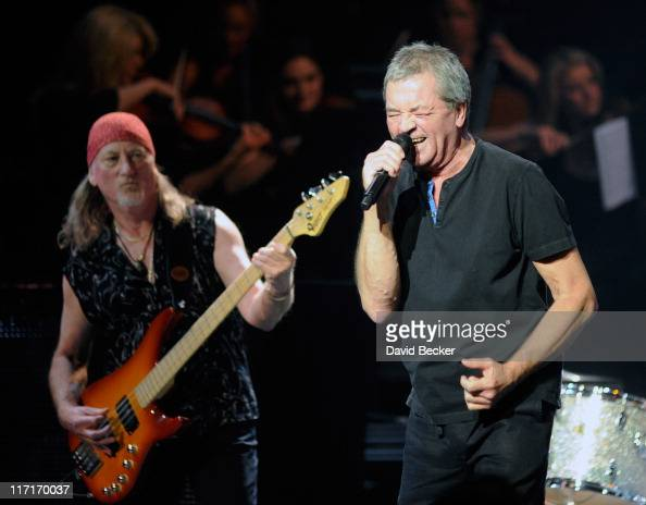 Bassist Roger Glover and lead singer Ian Gillan of Deep Purple perform at The Pearl concert theater at the Palms Casino Resort on June 23 2011 in Las...