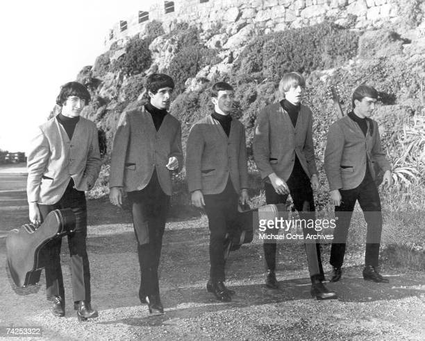 Bassist Ron Meagher singer Sal Valentino guitarist Ron Elliott drummer John Petersen and guitarist Declan Mulligan of the rock and roll band 'The...