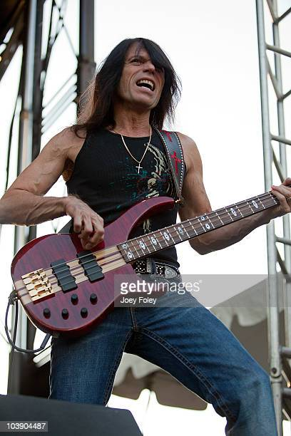 Bassist Rudy Sarzo of Blue Oyster Cult performs during the 15th Annual Rib America Festival Day 4 at Military Park on September 6 2010 in...