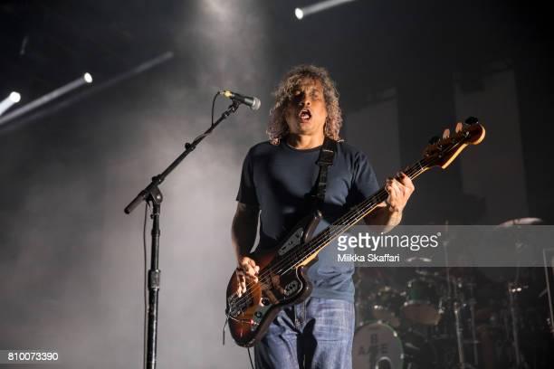 Bassist Sergio Vega of Deftones performs at Concord Pavilion on July 6 2017 in Concord California