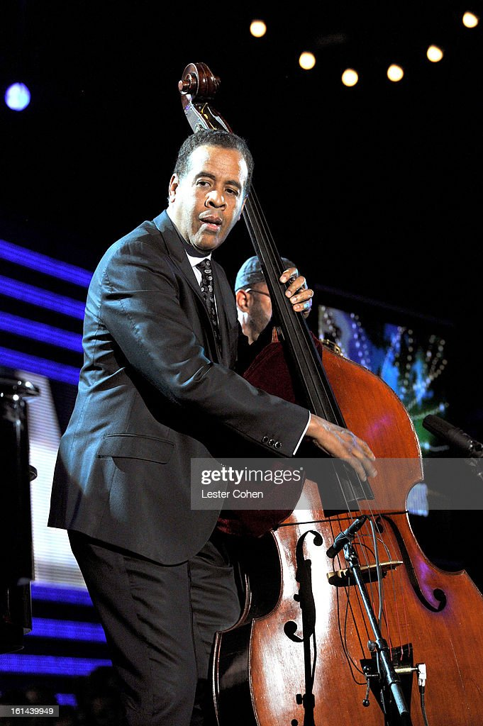Bassist Stanley Clarke onstage during the 55th Annual GRAMMY Awards at STAPLES Center on February 10, 2013 in Los Angeles, California.