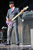 Bassist Terry Lewis of Morris Day the Time performs at PNC Music Pavilion on July 22 2016 in Charlotte North Carolina