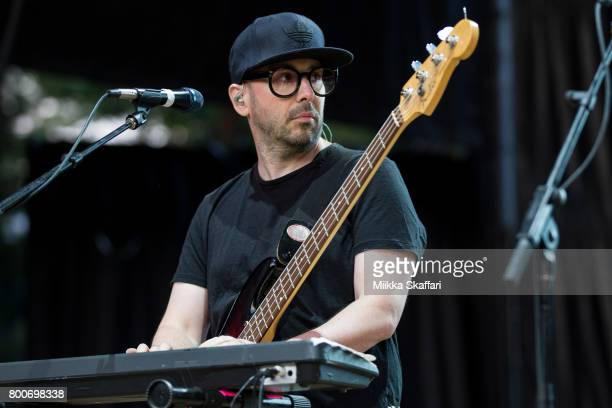 Bassist Tim Nordwind of OK Go performs at ID10T festival at Shoreline Amphitheatre on June 24 2017 in Mountain View California