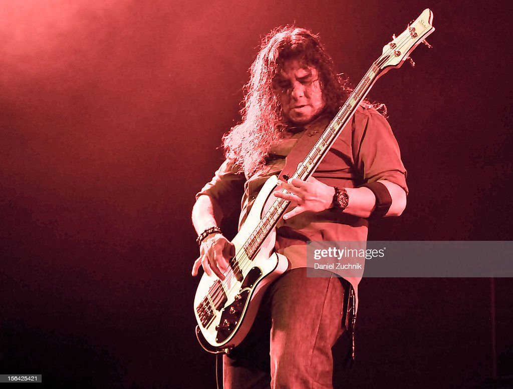Bassist Tony Castaneda of Kyng performs at Best Buy Theater on November 14, 2012 in New York City.