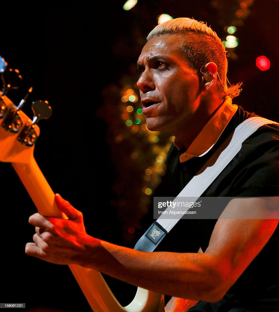 Bassist Tony Kanal of No Doubt performs onstage at the 23rd Annual KROQ Almost Acoustic Christmas at Gibson Amphitheatre on December 9, 2012 in Universal City, California.