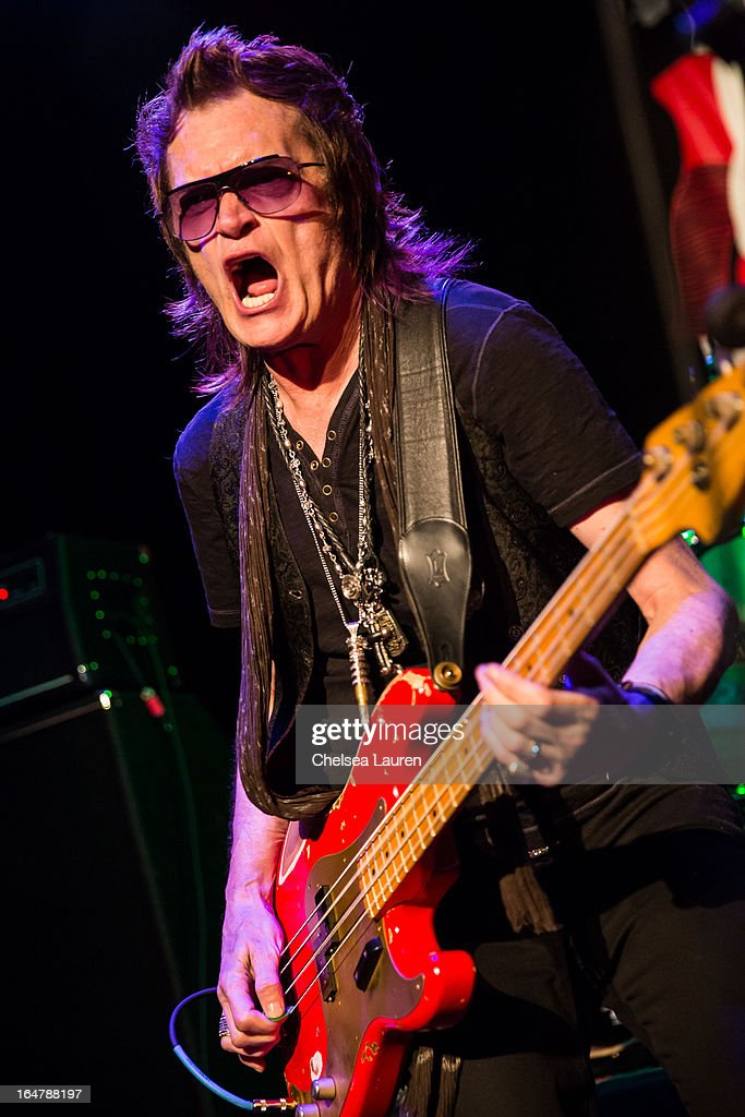 Bassist / vocalist Glenn Hughes of Deep Purple performs at the Rock Against MS benefit concert at The Whisky a Go Go on March 27, 2013 in West Hollywood, California.
