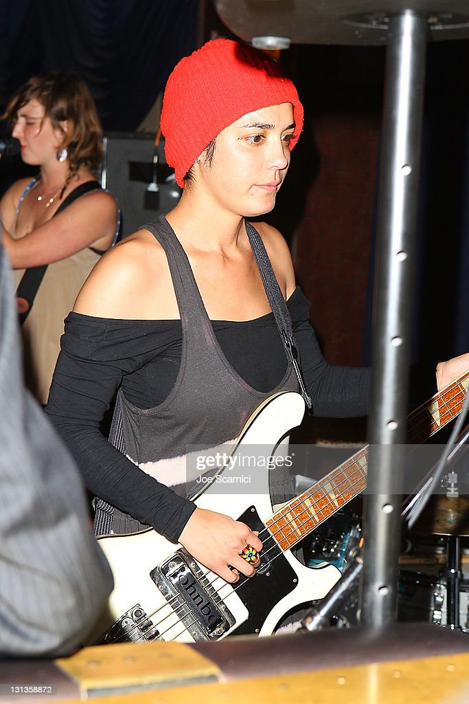 Bassist/vocalist Jenny Lee Lindberg of the band Warpaint performs at The Spare Room presents a benefit for Movember at The Spare Room on November 3...