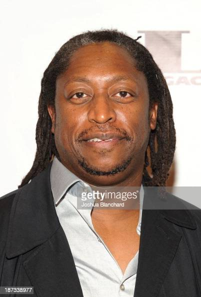 Bassit Darryl Jones arrives at Mr Musichead Gallery for the 'Miles Davis The Collected Artwork' Launch Party on November 7 2013 in Los Angeles...