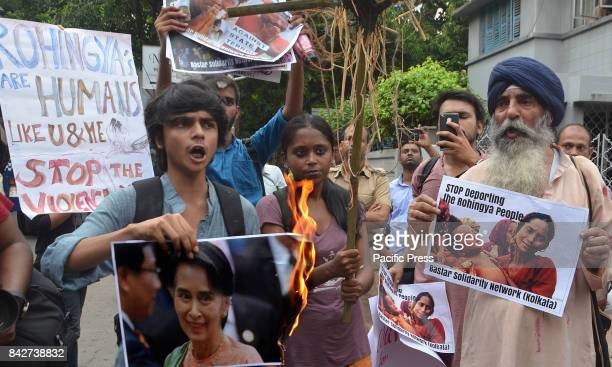 Bastar Solidarity Kolkata chapter organize a protest in front of Myanmar consulate against the genocide of Rohingya people