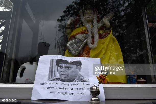 Bastar Solidarity Network held a demonstration outside Indian Institute of Mass Communication protesting the invitation extended to former Bastar...