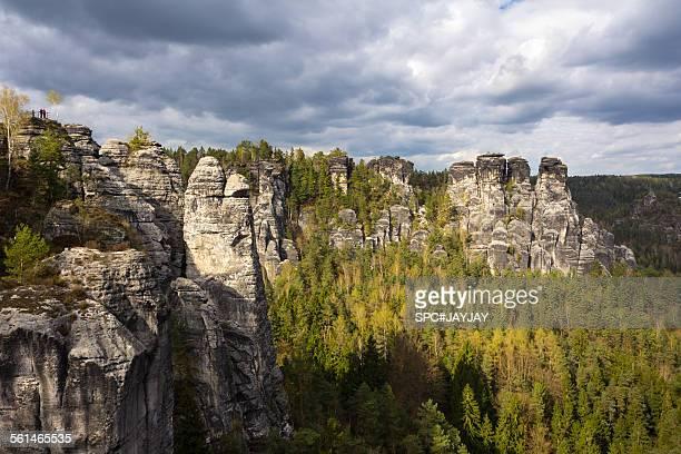 Bastei in Saxon Switzerland National Park