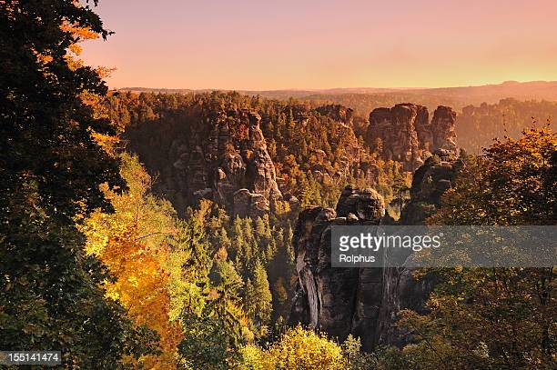 Bastille day Rocks im Herbst Sonnenaufgang