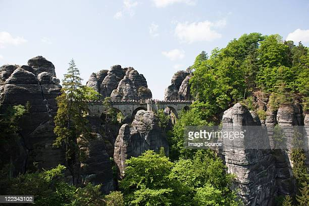 Bastille day Rocks, Sächsische Schweiz, Dresden, Deutschland