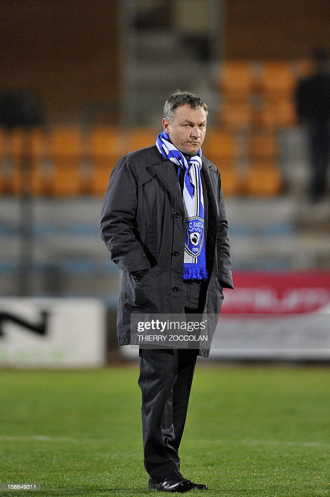 Bastia coach Frederic Hantz looks on during the French L1 football match Bastia vs Nancy, on December 22, 2012, at the Jean Laville stadium in Gueugnon.