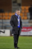 Bastia coach Frederic Hantz looks on during the French L1 football match Bastia vs Nancy on December 22 at the Jean Laville stadium in Gueugnon AFP...